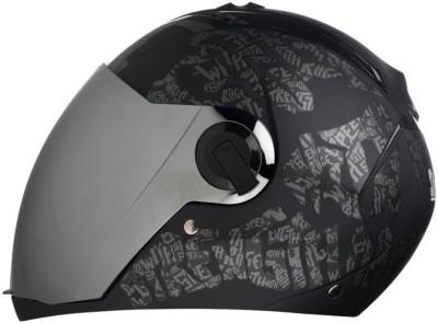 Steelbird AIR SBA-2 Strength Motorbike Helmet(Matt Black/Grey with Chrome Visor)