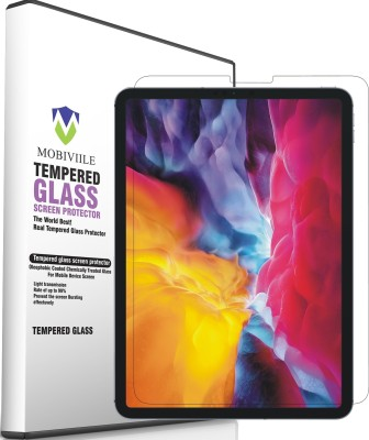 MOBIVIILE Edge To Edge Tempered Glass for Apple iPad Pro 11 inch, Apple iPad Air 4 10.9 inch New 2020 Model(Pack of 1)