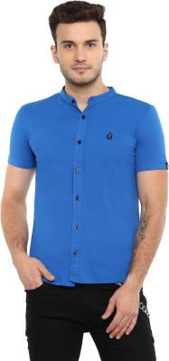 Urbano Fashion Men Solid Casual Blue Shirt
