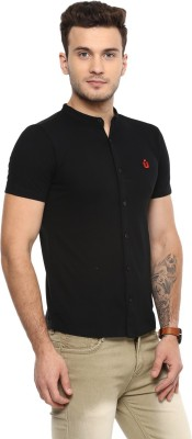 Urbano Fashion Men Solid Casual Black Shirt
