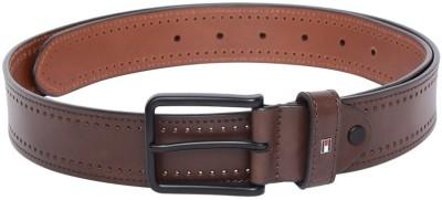 TOMMY HILFIGER Men Brown Genuine Leather Belt TOMMY HILFIGER Buckles
