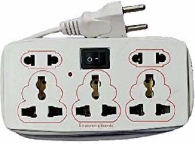 Protos India.Net Heavy Duty Hilex 5 Socket Plug extension Cord board mini strip 5 Socket Extension Boards White