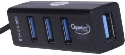 Quantum QHM 4 Port QHM 6642 USB Hub Black Quantum Mobile Accessories