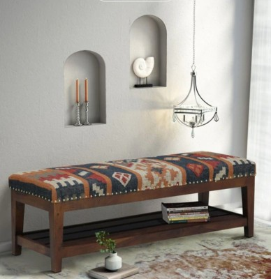 Flipkart Perfect Homes Solid Wood 2 Seater(Finish Color - Brown)