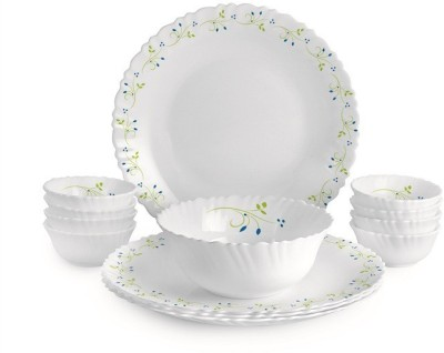 Cello Pack of 13 Opalware Dazzle Tropical Lagoon Dinner Set, 13 PC Dinner Set (Microwave Safe)