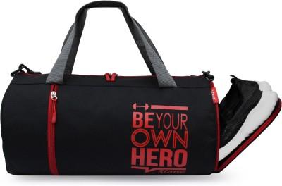 Sfane Men & Women Red Sports Duffel with Shoe Compartment & Detachable Belt Gym Duffel Bag