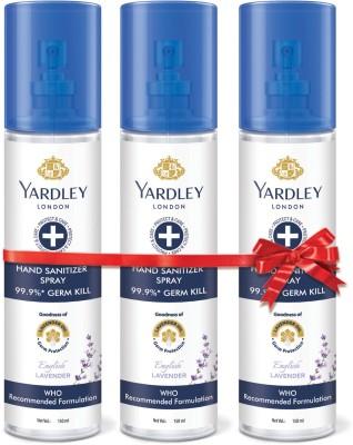 Yardley London Spray Sanitizer Spray Can(3 x 140 ml)