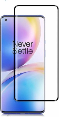Jacure Edge To Edge Tempered Glass for Jacure™ Compatible for Oneplus 8 Tempered Glass Full Coverage Edge to Edge Bubble Free Full Glue 3D Touch Accuracy HD Clear Easy Install(Pack of 1)
