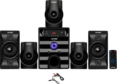 Vemax Tokyo 5.1 Bluetooth Multimedia Home Theater System with FM, Pen Drive, Mobile Aux 20000 W Bluetooth Home Theatre(Black, 5.1...