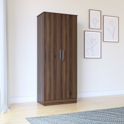 Flipkart Perfect Homes Julian Engineered Wood 2 Door Wardrobe(Finish Color - Dark Walnut)