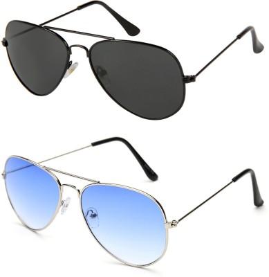 GANSTA Aviator Sunglasses(For Men, Black, Blue)