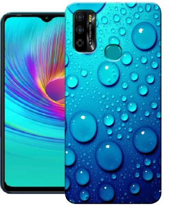 HEXACase Back Cover for Infinix Smart 4 Plus(Blue, Dual Protection, Silicon)