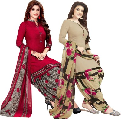 Ishin Synthetic Printed Salwar Suit Material(Unstitched)