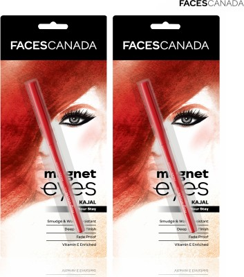 FACES CANADA Magneteyes Kajal Duo(Black, 0.7 g)