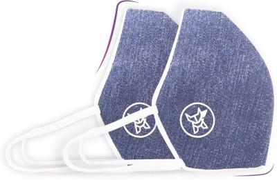 Arctic Fox AIW V2 Washable Blue Mask FACCOMBLUWZ12500A Reusable Cloth Mask(L, Pack of 2)