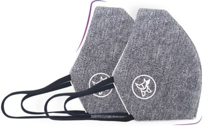 Arctic Fox AIW V2 Washable Grey Mask FACCOMGRYWZ12400A Reusable Cloth Mask(Grey, L, Pack of 2)