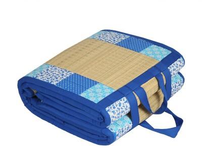 Kala Darshan Crafts Bazaar Cotton Chatai Mat((91X198 CM Blue Cotton Fabric), Medium)