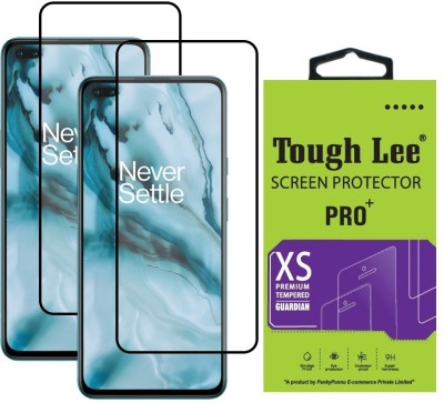 Tough Lee Edge To Edge Tempered Glass for OnePlus Nord(Pack of 2)