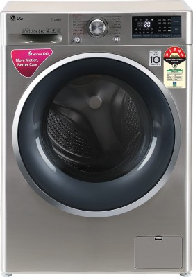 LG 8 kg 5 Star Fully Automatic Front Load with In-built Heater Grey(FHT1408ZWS)