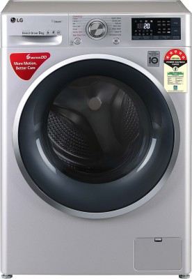 LG 9 kg 5 Star Fully Automatic Front Load with In-built Heater Silver(FHT1409ZWL)