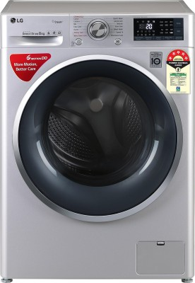 LG 8 kg 5 Star Fully Automatic Front Load with In-built Heater Silver(FHT1408ZWL)