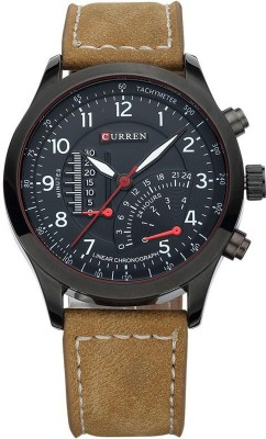 Curren 8152 black dial watch Analog Watch   For Men