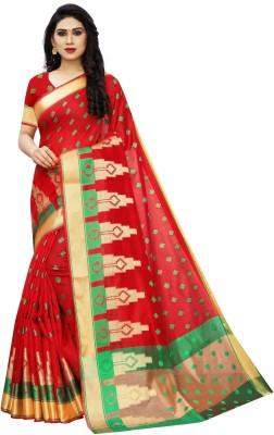 Saree Collection Woven Banarasi Jacquard Saree(Red)