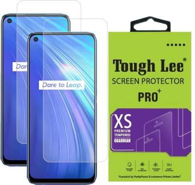 Tough Lee Tempered Glass Guard for Realme Narzo 30 Pro 5G, Realme Narzo 30 Pro, Realme 7, Realme 7i, Realme Narzo 20 Pro, Realme 6, Realme 6i(Pack of 2)