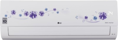 LG 1 Ton 5 Star Split Dual Inverter AC - Floral White(KS-Q12FNZD, Copper Condenser)
