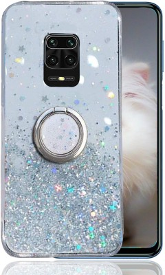 KC Back Cover for Poco M2 Pro, Mi Redmi Note 9 Pro, Mi Redmi Note 9 Pro Max(Transparent, Cases with Holder, Silicon)