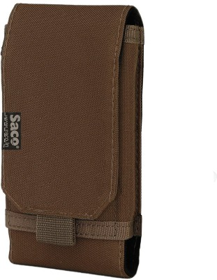 Saco Wallet Case Cover for Belt Waist Packs Pouch Holster for Mobile Phone (Size L) Sports Fitness Outdoors Running Jogging(Maroon, Holster)