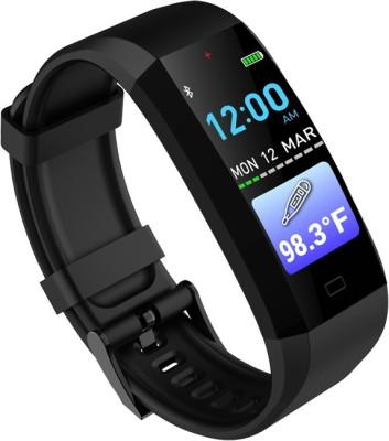 GOQii Vital 3.0 Body Temperature Tracker(Black Strap, Size : Regular)