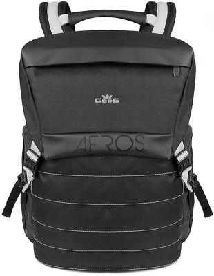 "GODS Aeros 35 Litre 17.3"" Expandable 35 L Laptop Backpack(Black)"