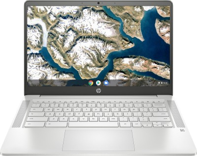 HP Chromebook 14a Celeron Dual Core - (4 GB/64 GB EMMC Storage/Chrome OS) 14a-na0003tu Thin and Light Laptop(14 inch, Mineral...