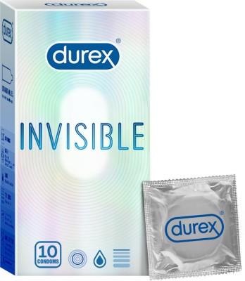 Durex Invisible Super Ultra Thin Condoms for Men 10s Condom(10S)