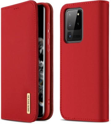 DHAN GTB Flip Cover for Samsung Galaxy S20 Ultra II Samsung S20 Ultra(Red, Grip Case)