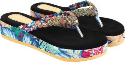 Shoetopia Women Blue, Multicolor Heels