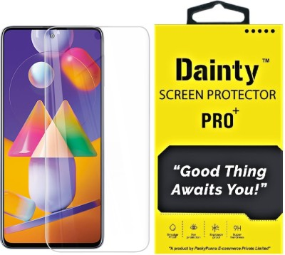 Dainty Tempered Glass Guard for Samsung Galaxy M31s(Pack of 1)