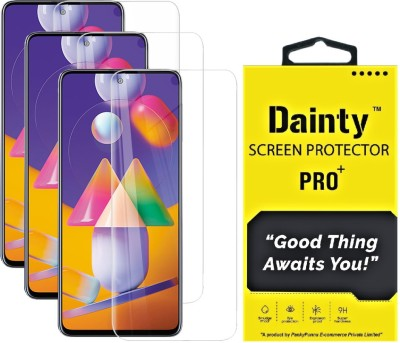Dainty Tempered Glass Guard for Samsung Galaxy M31s(Pack of 3)