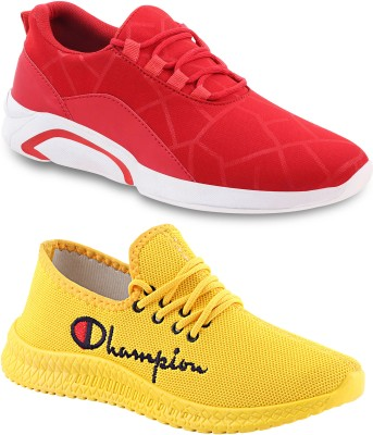 Chevit Lightweight Combo Pack of 02 Trendy Sneakers Casuals For Men