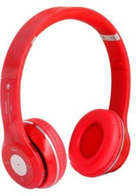 SP TECH S-460 Popularity Top Sound High Bass Mobile,Laptop,PC Bluetooth Headset(Red, On the Ear)
