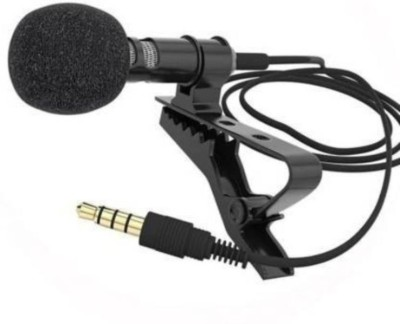 gyzmofreakz 3.5mm Clip Microphone For Youtube   Collar Mike for Voice Recording   Lapel Mic Mobile, PC, Laptop, Android Smartphones, DSLR Camera Microphone microphone(Black)