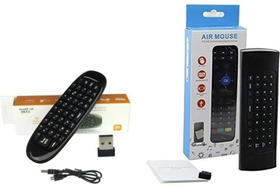 AUSHA Air Mouse Combo Pack of 2 Air Mouse 2.4G Wireless Smart Remote for Android TV,Android Box ,Mini PC; Air Mouse with QWERTY Keyboard and Motion Control Sony, Samsung, Toshiba, Kodak, Mi, LG,Vu and many others Remote Controller(Black)
