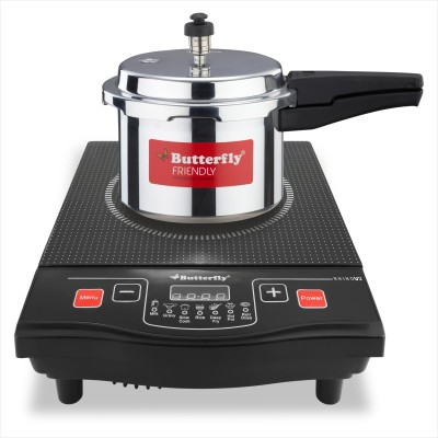Butterfly Rhino V2 + 3L Pressure Cooker Induction Cooktop(Black, Push Button)