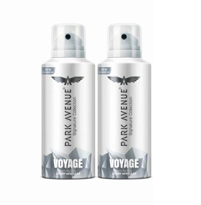 PARK AVENUE Voyage Deodorant Spray  -  For Men(232 g, Pack of 2)