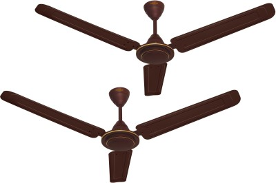 Kenstar Aria Plus 1200 mm Ultra High Speed 3 Blade Ceiling Fan  (Brown, Pack of 2)