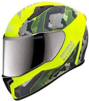 Studds THUNDER D5 MATT NEON YELLOW VISOR N5 YELLOW Motorbike Helmet(NEON YELLOW, Black)