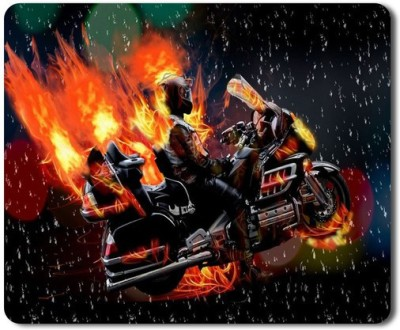 5 ACE Anti skid animated ride on fire Printed designer speed Mouse pad for PC/Laptop  7x8.5 Inches Mousepad(Multicolor)