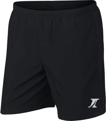 INDICLUB Solid Men Black Sports Shorts