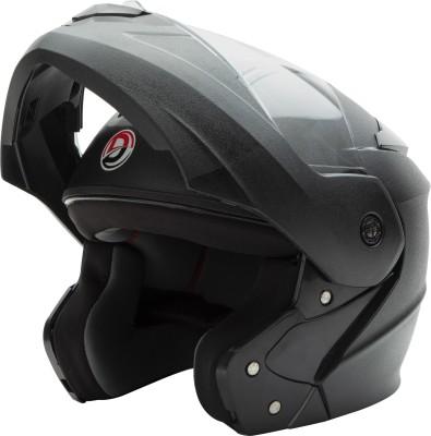 GTB FLIP UP HELMET-BLACK Motorbike Helmet(Black)